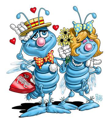 Digital Art - Love Bugs by Scott Ross
