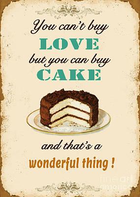 Love Cake Typography Original