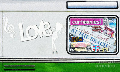 Vw Camper Van Digital Art - Love Campervans by Tim Gainey