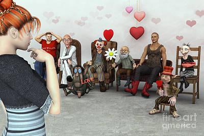 Digital Art - Love Candidates by Jutta Maria Pusl