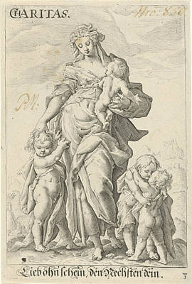 Love Caritas, Anonymous, Hendrick Goltzius Art Print