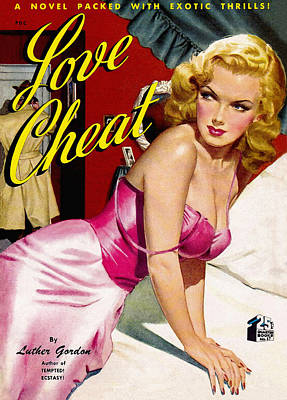 Pulp Magazines Painting - Love Cheat. Vintage Pulp Fiction Paperback by Big 88 Artworks