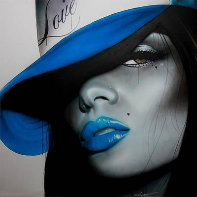 Lips Painting - Portrait - ' Love Child ' by Christian Chapman Art