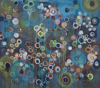 Painting - Love Circles by Laurie Maves ART