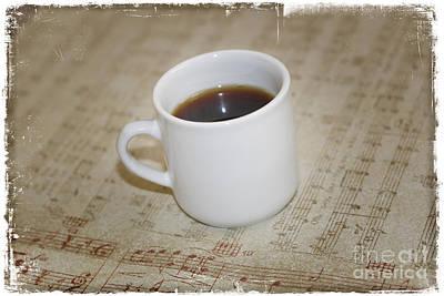 Love Coffee And Music Art Print