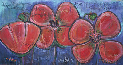 Painting - Love Come What May Poppies by Laurie Maves ART