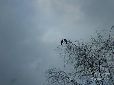 Love Crows Art Print