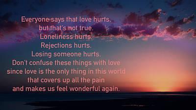 Love Doesn't Hurt Print by Li   van Saathoff