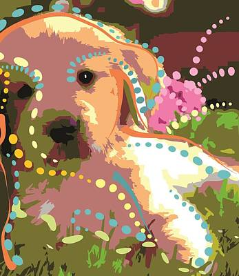 Cute Dog Digital Art - Love Dog by Micaela Pazuello Mica