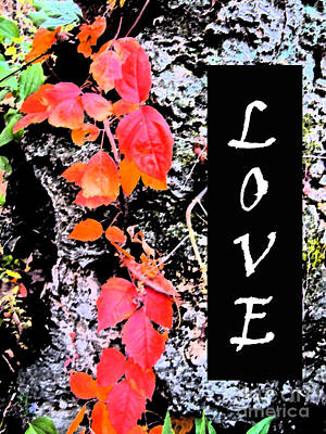 Love Fall White Edition Art Print by Minding My  Visions by Adri and Ray