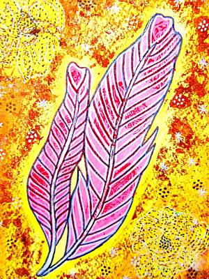Painting - Love Feathers by Priyanka Rastogi