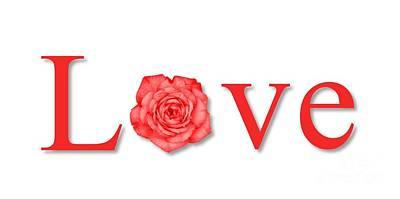 Colored Pencils - Love Flower Red by Henrik Lehnerer