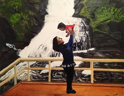 Love Flows Like The Waterfalls Art Print by Brindha Naveen