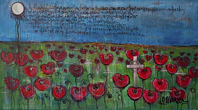 Painting - Love For Flanders Fields Poppies by Laurie Maves ART