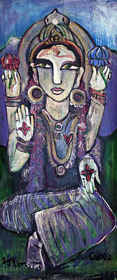 Painting - Love For Parvati by Laurie Maves ART