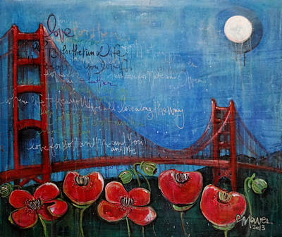 Painting - Love For San Francisco by Laurie Maves ART