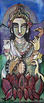 Painting - Love For Saraswati by Laurie Maves ART