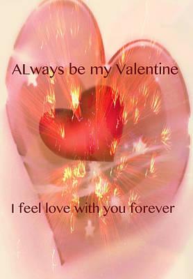 Mixed Media - Love Forever  by Debra     Vatalaro