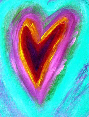 Painting - Love From The Heart by Bob Baker