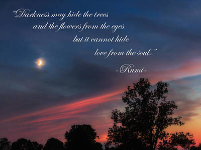 Rumi Photograph - Love From The Soul by Bill Wakeley