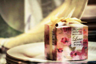 Photograph - Love Gift Box by Suradej Chuephanich