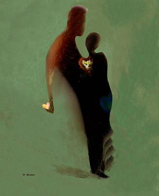 Digital Art - Love by Haleh Mahbod