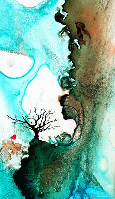 Sky Blue Mixed Media - Love Has No Fear - Art By Sharon Cummings by Sharon Cummings