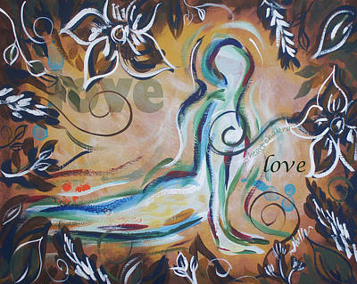 Chakra Painting - Love - Heart Chakra by Noelle Rollins