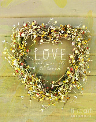 Photograph - Love Heart Wreath by Shari Warren