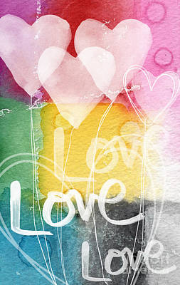 Royalty-Free and Rights-Managed Images - Love Hearts by Linda Woods