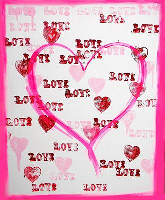 Painting - Love Hearts by Marisela Mungia