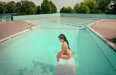 Swimming Wall Art - Photograph - Love Illusion ( Series #4 ) by Fang Tong