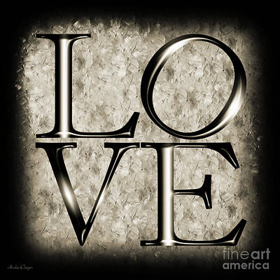 Digital Art - Love In Black And White by Andee Design