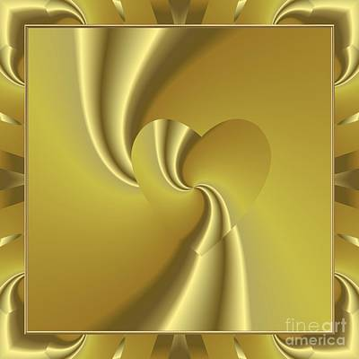 Digital Art - Love In Disguise Loves Golden Slumber by Rose Santuci-Sofranko