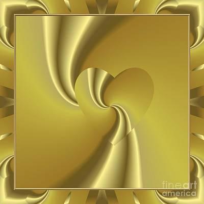 Hearts Digital Art - Love In Disguise Loves Golden Slumber by Rose Santuci-Sofranko