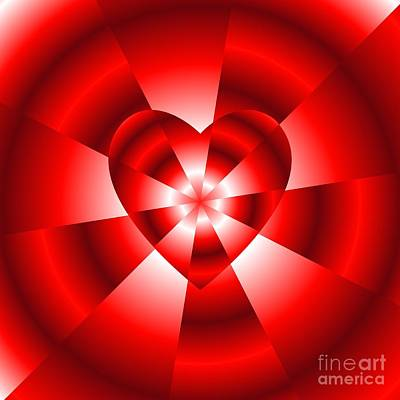 Digital Art - Love In Disguise Red Radiance by Rose Santuci-Sofranko