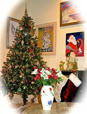 Photograph - Love In Our Hearts And Santa In The Corner by Phyllis Kaltenbach