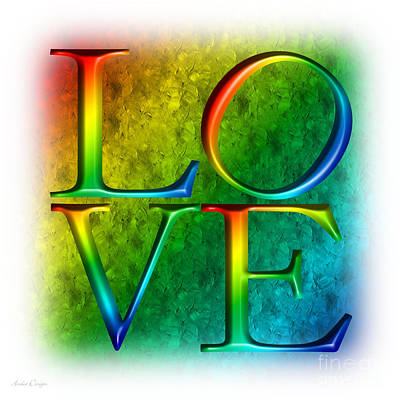 Digital Art - Love In Rainbow by Andee Design