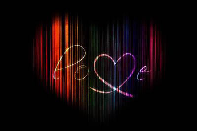 Love In Rainbow Heart Art Print by Eti Reid