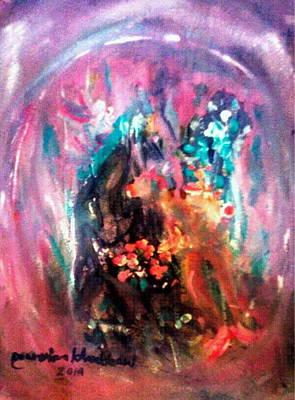 Painting - Love In The Moon by Wanvisa Klawklean