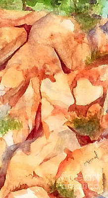 Painting - Love In The Rocks by Vicki  Housel