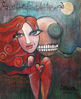 Painting - Love Is A Four Letter Word by Laurie Maves ART