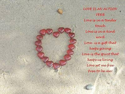 Love Is An Action Verb Art Print