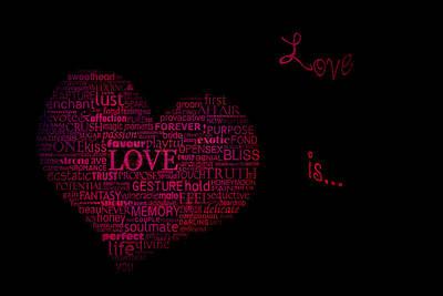Fabric Mixed Media - Love Is.. by Eti Reid