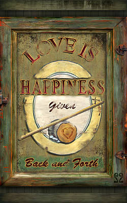 Digital Art - Love Is Happiness by Joel Payne