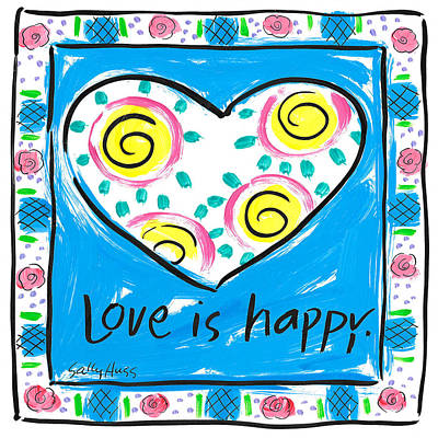 Wall Art - Painting - Love Is Happy by Sally Huss