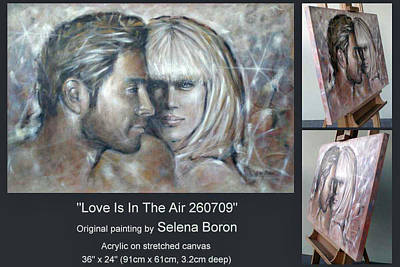 Art Print featuring the painting Love Is In The Air 260709 Comp by Selena Boron