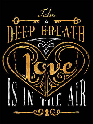 Breath Digital Art - Love Is In The Air by South Social Graphics