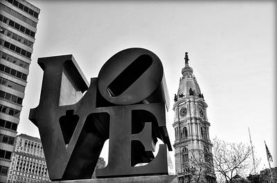 Cityhall Digital Art - Love Is Just Black And White by Bill Cannon