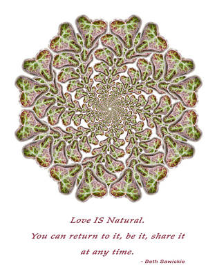 Photograph - Love Is Natural by Beth Sawickie